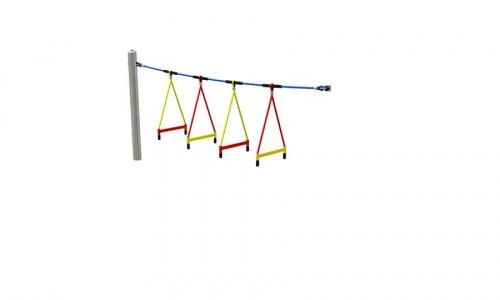 Příčle provazového žebříku segment